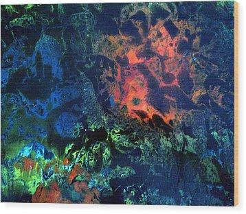 Dendrites Wood Print