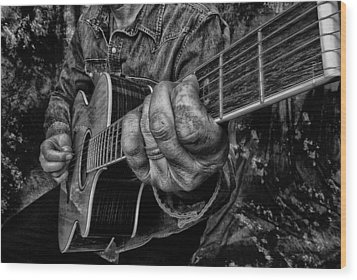 Playin The Blues Wood Print by Kevin Cable