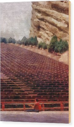 Playing At Red Rocks Wood Print by Michelle Calkins