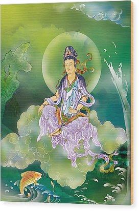 Playing Avalokitesvara   Wood Print by Lanjee Chee