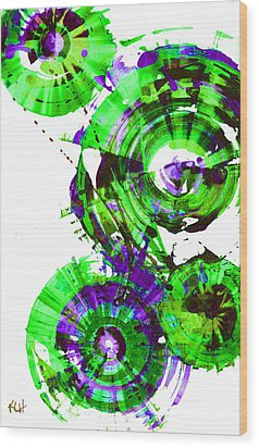 Wood Print featuring the painting Playing In The Wind 1000.042312 - Popart-2 by Kris Haas