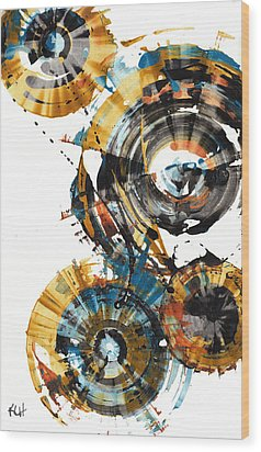 Wood Print featuring the painting Playing In The Wind 1000.042312 by Kris Haas
