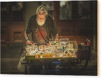 Playing The Glasses Wood Print by Brenda Bryant