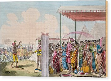 Playing The Hohlee, From The Costume Wood Print by Deen Alee