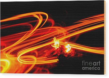 Playing With Fire 4 Wood Print