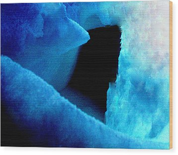 Playing With The Snow And Ice Kappl Mountain Austria  Wood Print by Colette V Hera  Guggenheim