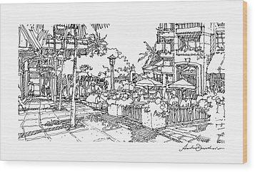 Plaza Wood Print by Andrew Drozdowicz