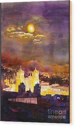 Plaza De Armas- Cusco Wood Print