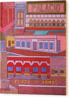 Plaza De Armas Wood Print