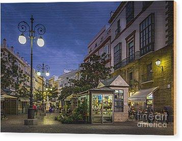 Plaza De Las Flores Cadiz Spain Wood Print by Pablo Avanzini