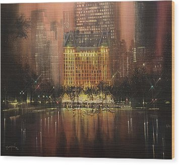 Plaza Hotel New York City Wood Print by Tom Shropshire