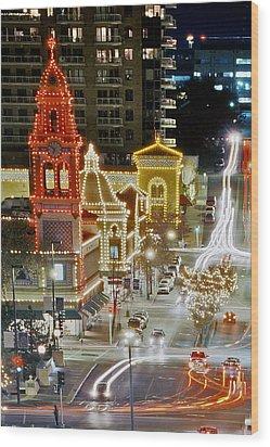 Plaza-kansas City Wood Print