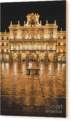 Plaza Mayor In Salamanca Wood Print