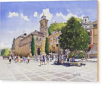 Plaza Nueva Wood Print by Margaret Merry