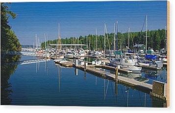 Pleasant Harbor Wood Print