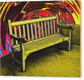 Please Be Seated Wood Print by Wendy J St Christopher