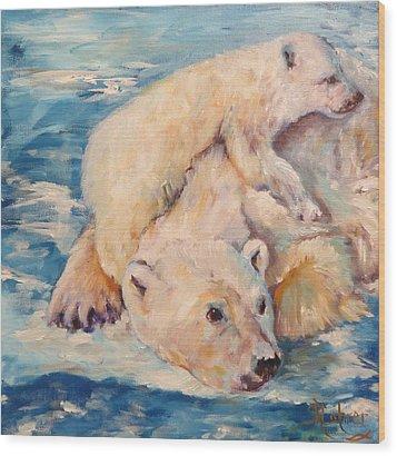 You Need Another Nap, Polar Bears Wood Print