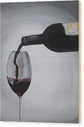 Pleasure In A Glass Wood Print by Melissa Torres