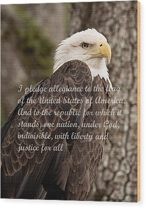 Pledge Of Allegiance Wood Print by John Black