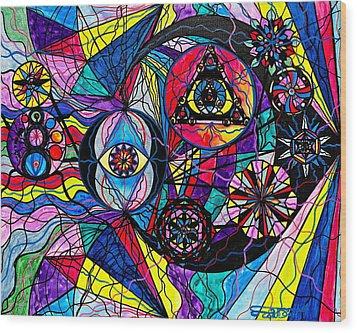 Pleiades Wood Print by Teal Eye  Print Store