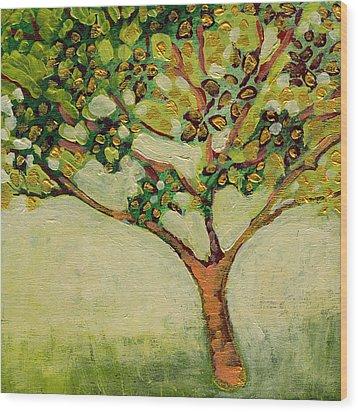 Plein Air Garden Series No 8 Wood Print by Jennifer Lommers