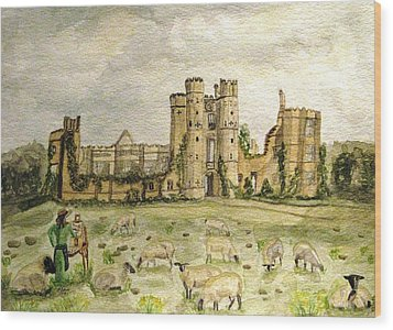 Plein Air Painting At Cowdray House Sussex Wood Print