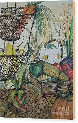 Plentiful Harvest Wood Print by Laneea Tolley