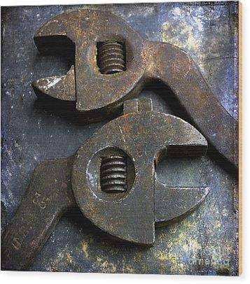 Pliers Wood Print by Bernard Jaubert