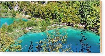 Plitvice Lakes Croatia Wood Print by Julia Fine Art And Photography