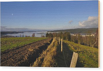Plowed Field Wood Print by Aged Pixel
