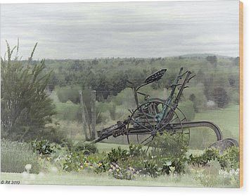 Plowing Through The Past Wood Print by Richard Bean
