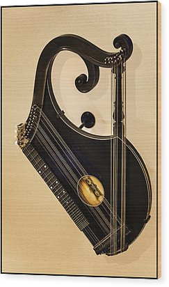 Plucked Vienna Zither Wood Print