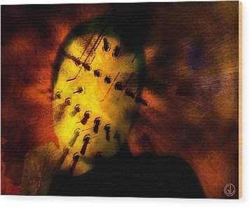 Plugged In Zombie Wood Print by Gun Legler