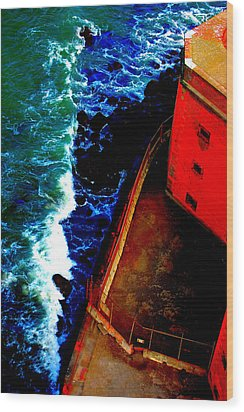 Plunging From Golden Gate Wood Print by Holly Blunkall