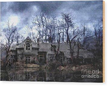 Plunkett Mansion Wood Print by Tom Straub