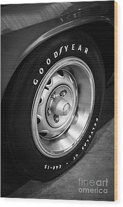 Plymouth Cuda Rallye Wheel Wood Print by Paul Velgos