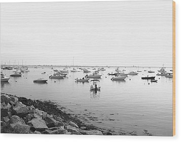 Wood Print featuring the photograph Plymouth Harbor by John Hoey
