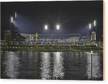 Pnc At Night. Wood Print by Jimmy Taaffe