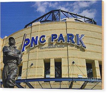 Pnc Park Baseball Stadium Pittsburgh Pennsylvania Wood Print by Amy Cicconi