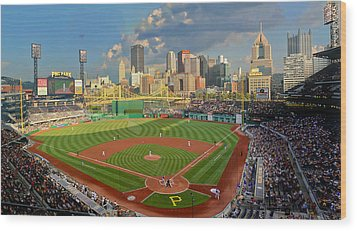 Pnc Park Pittsburgh Wood Print by Gary Cain