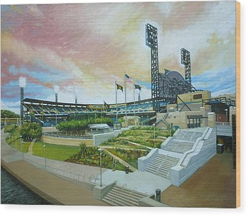 Pnc Park Pittsburgh Pirates Wood Print by Gregg Hinlicky