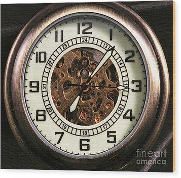 Pocket Watch Wood Print by John Rizzuto