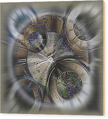 Pocketwatches 2 Wood Print by Steve Ohlsen