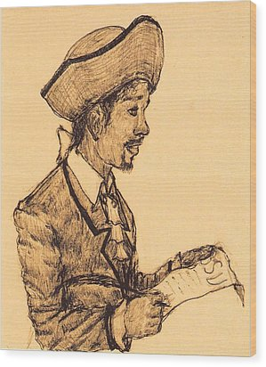 Poet Wood Print by George Harrison