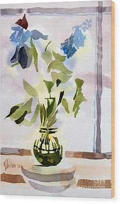 Poetry In The Window Wood Print by Kip DeVore
