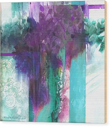 Poetry Is Painting Wood Print by Patricia Mayhew Hamm