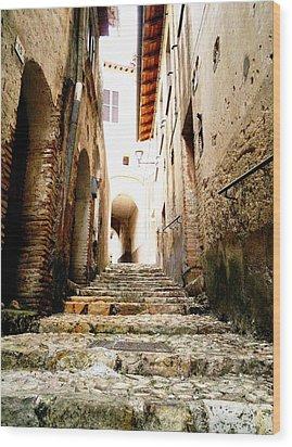 Poggio Catino Italy Wood Print by Giuseppe Epifani
