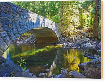 Pohono Bridge Yosemite National Park Wood Print