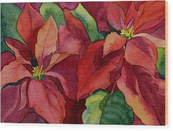 Poinsettia Wood Print by Vikki Bouffard