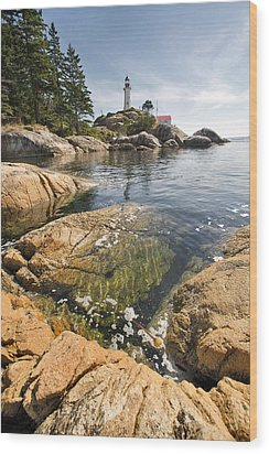 Wood Print featuring the photograph Point Atkinson Lighthouse In Vancouver Bc Vertical by JPLDesigns